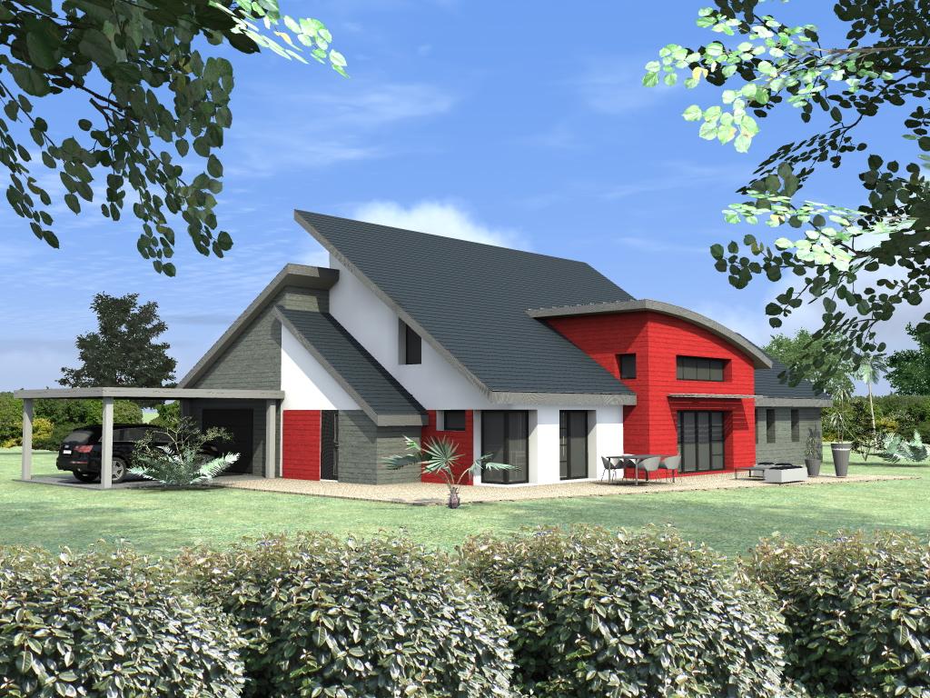 Votre maison d 39 architecte en ossature bois basse - Maison rustique bois architecte stillwater ...