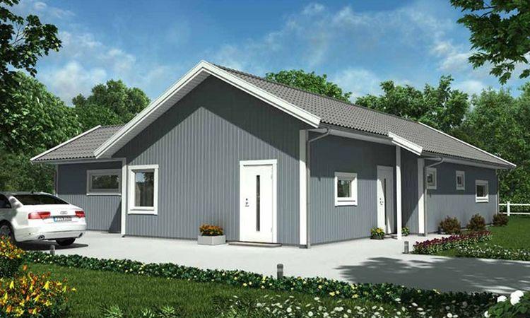 photo Maisons ossature bois suédoises BBC et haute qualité provenant du catalogue Hej France VastkustStugan