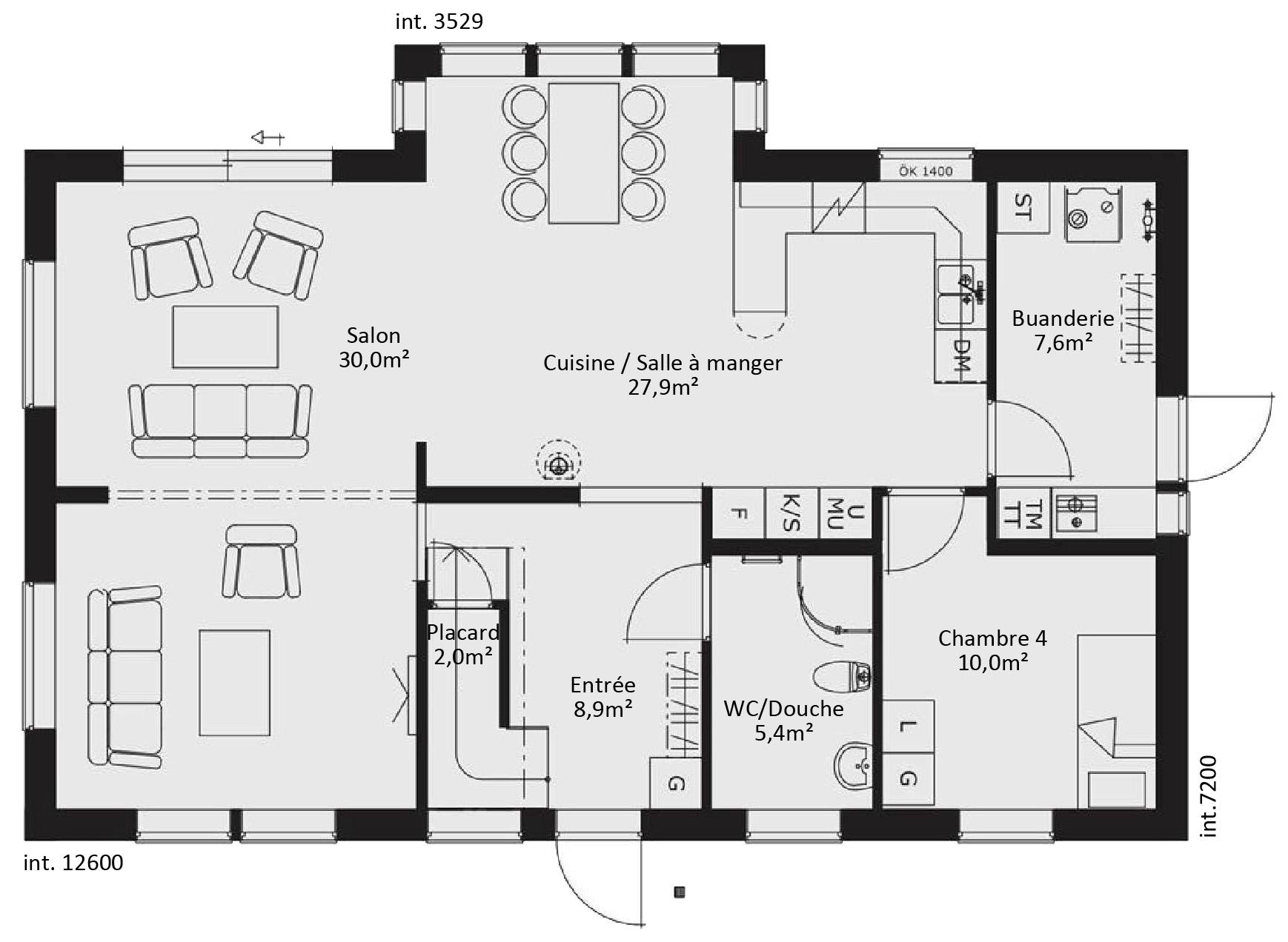 Catalogue plain pied scandinavia 11 for Plan maison ossature bois